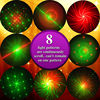 Outdoor Waterproof Laser Star Projector Remote RG 8 Big Patterns Garden Holiday Christmas Tree Showers Red