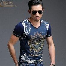 TBAIYE 2017 New Fashion Men Casual T shirt Men Short Sleeve T shirt Men's High-end luxury brand Clothes Slim Stretch Man T shirt