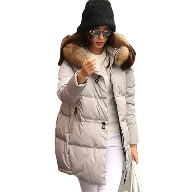 2017 new winter women jacket long down cotton coat large collar parka coats cloak plus size thick Nagymaros collar jacket AB050 maternity women winter down coat jacket large medium length parka fur collar pregnant thick hooded coats plus size l 2xl e629