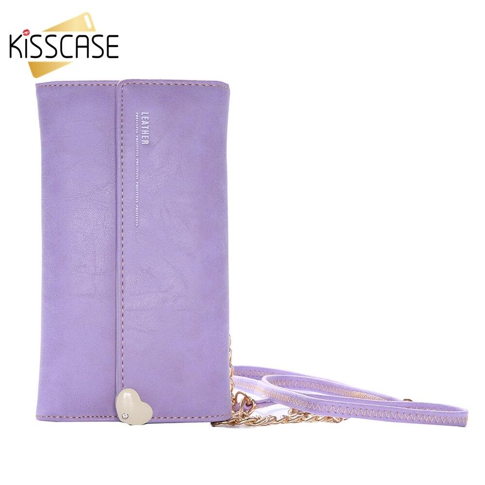 bilder für KISSCASE 2017 Tasche Tasche Für iPhone 6 6 5 5 S 5Se 7 7 Plus Samsung A5 A7 A8 Galaxy Note 5 7 S6 Rand Plus Leder Geldbörse Handtasche