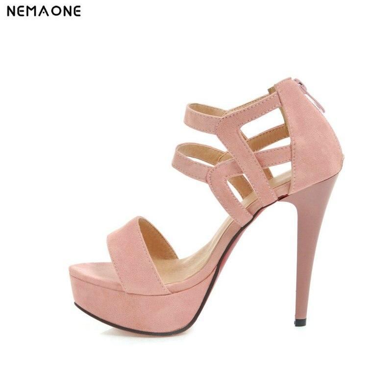 Nemaone Frauen 12 Cm High Heel Sandalen Sommer Schuhe Frau Heels Party Schuhe Strappy Sandalen Frauen Hochzeit Schuhe äSthetisches Aussehen Absätze
