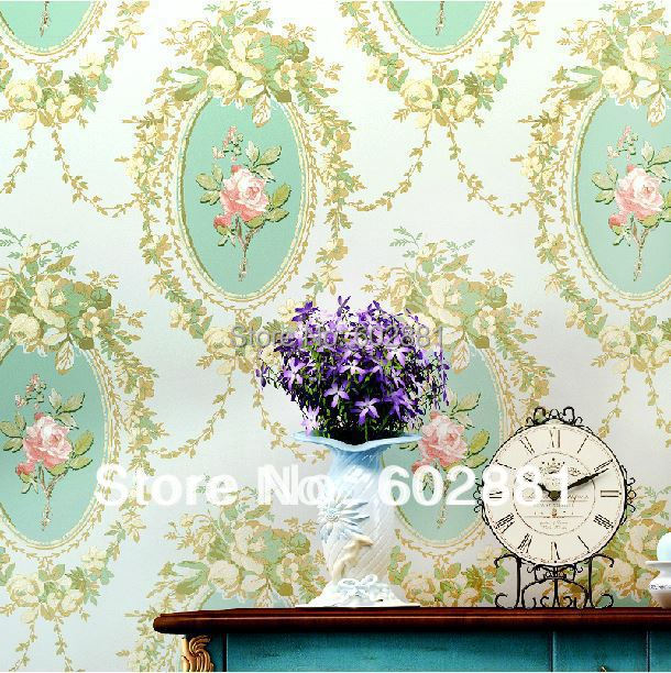 haokhome non woven luxury floral print wallpaper classical country