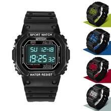 Водонепроницаемые светящиеся спортивные наручные часы с цифровым