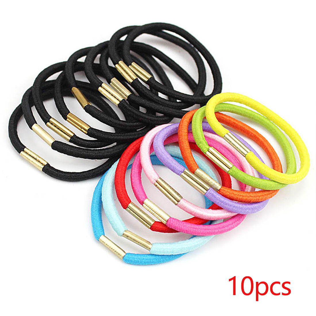 Mix Color 10pcs lot Elastic Headwear Hair Bands Scrunchie Gum Ponytail Ropes Hair Accessories Girls Hair Holders in Hair Accessories from Mother Kids