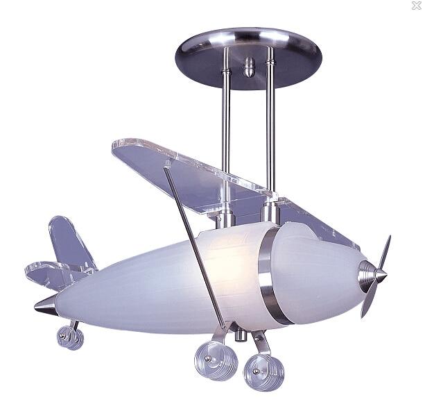 Iluminação alces Níquel Acetinado Prop Avião Pingente de Vidro Luz Pingente de Avião para Crianças Quarto Sala lâmpada Lampen Moderno