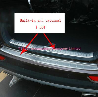 Car trunk for the welcome pedal built-in and a full set of external rear plate stainless steel for KIA SPORTAGE 2016 accessories purnima sareen sundeep kumar and rakesh singh molecular and pathological characterization of slow rusting in wheat
