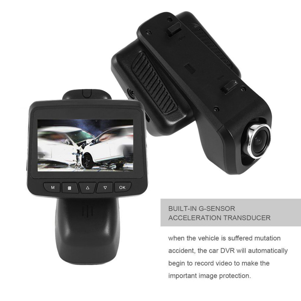 Portable HD Car DVR with IPS LCD Display Screen Video Recorder Car Dash Camera 140 Degree Wide Angle Lens Motion Detection