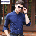 PORT&LOTUS Shirts Men Thin Long Sleeves Camisa Masculina Cotton Print Men's Blouse Brand Clothing Shirt YT024 85325