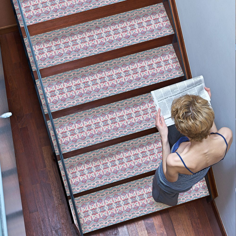 Image 3 - Hot 2Pcs Bohemia Style Stair Stickers,  Wall Stickers Diy Floor Sticker,   Suitable For The Toilet, Kitchen, Stair Etc. En-in Wall Stickers from Home & Garden