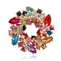 Broches flor grande do Vintage de luxo encantadores de cristal broche moda jóias por atacado 5 X 010