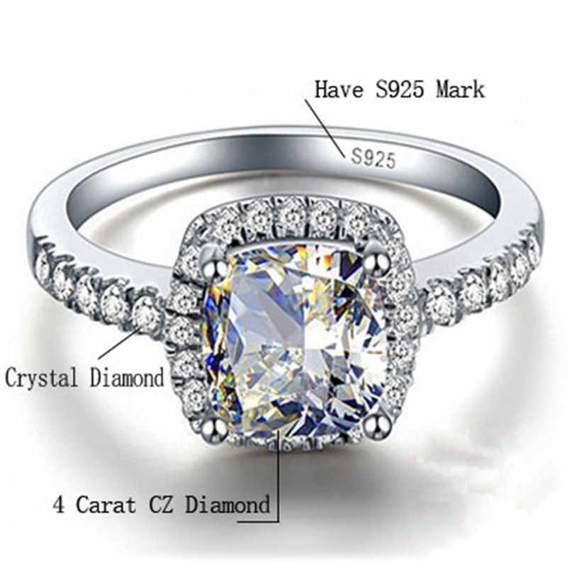 CC кольца из стерлингового серебра 925 пробы для женщин, свадебные кольца Anelli, модные ювелирные изделия для помолвки, белого золота, Anillos Mujer CC595