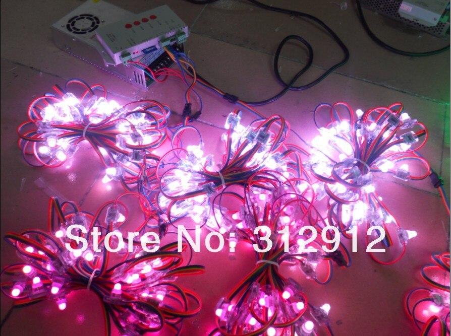 RGB полный светодиодный модуль пикселей(WS 2801 IC); вход DC5V, 50 шт