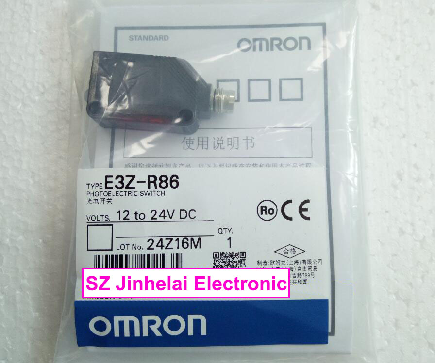 100% New and original   E3Z-R86  OMRON  Photoelectric switch  Photoelectric sensor   12-24V DC ,  PNP k1359 2sk1359 to 3p