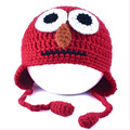 2017 Novelty Handmade Crochet Children Caps Funny Big eyes Hats Winter Warm Kids Hats Gorro Lovely Birthday Party Gifts