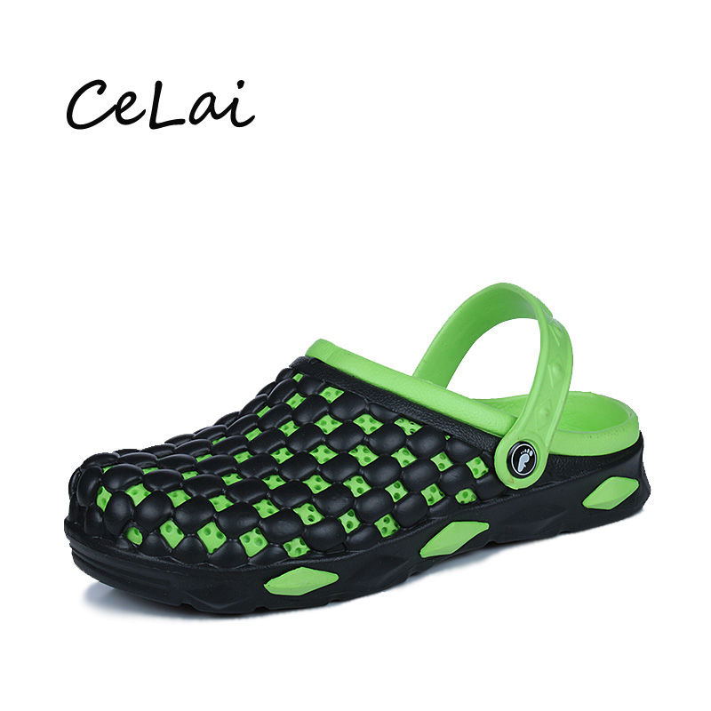 CeLai 2019 Summer Shoes Men Sandals Rubber Outdoor Beach Sandals Men's New Fashion Light Jelly Shoes Male Sandalias Hombre A-037