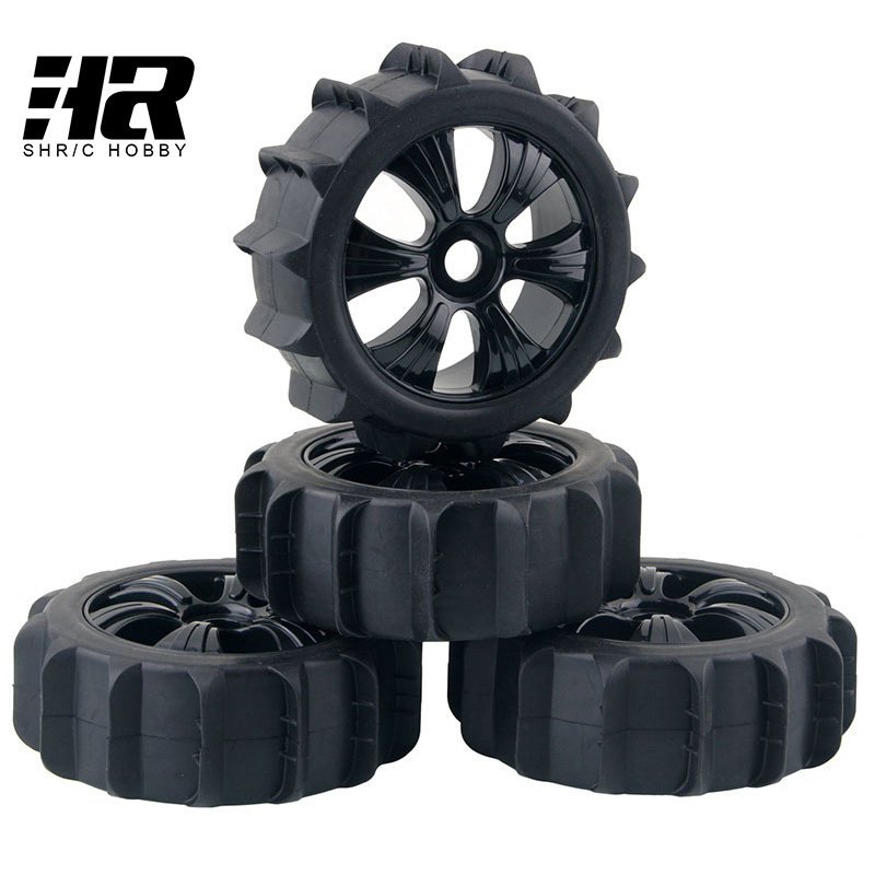 RC car 1/8 Desert Snow Tires Set Tyre  17mm Hex Hub Wheel Rim For HPI HSP Traxxas 1:8 RC Car Buggy Model Car 8SC Short pull card электромеханическая швейная машина vlk napoli 2200 mini