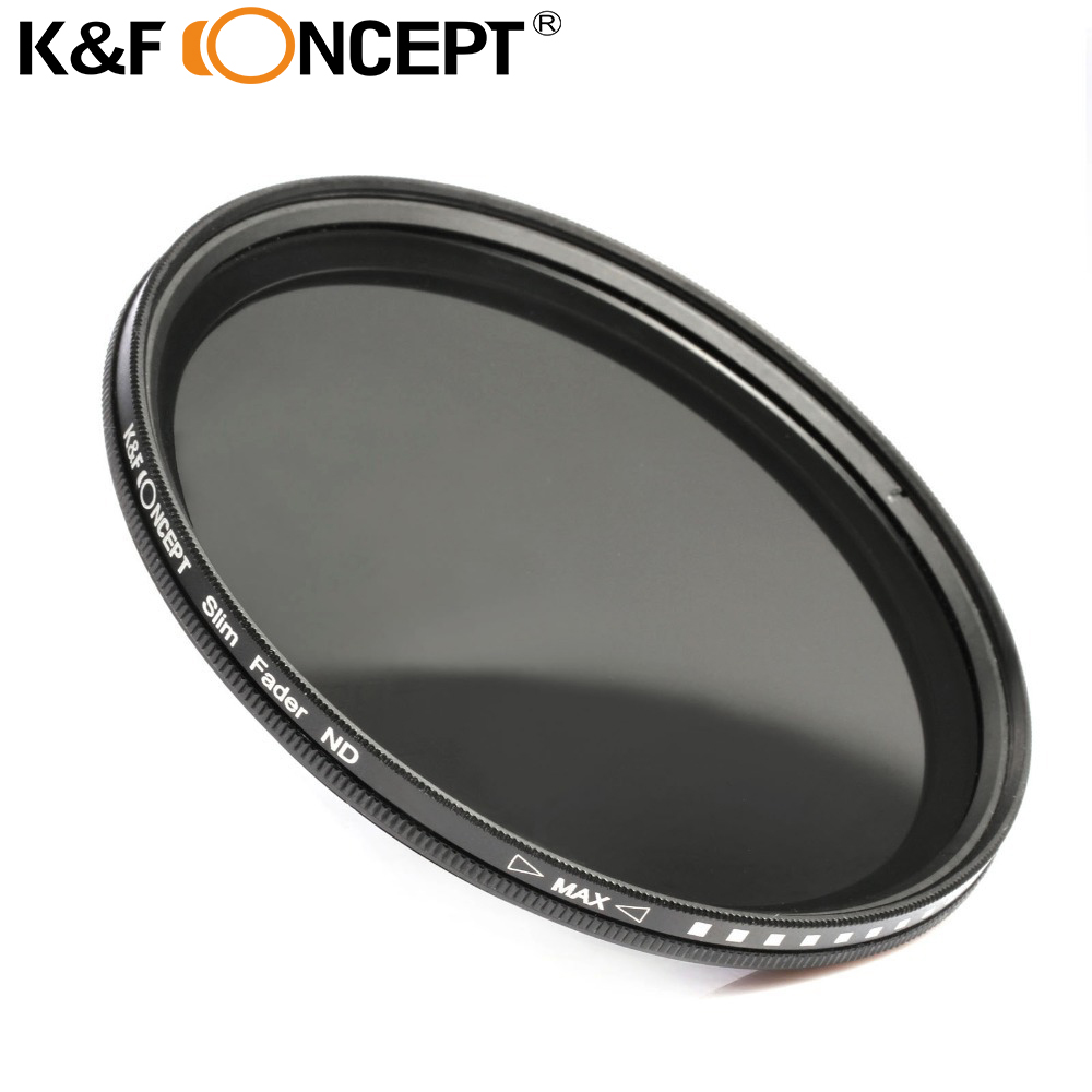 K&F CONCEPTO 58 mm ND Filtro Fader Neutral Densidad ajustable ND2 a ND400 Filtro variable para Canon para todas las lentes de cámara DSLR de 58 mm