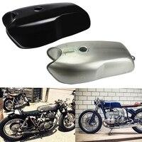 Motorcycle 9L / 2.4 Gallon Universal Custom Cafe Racer Gas Black Fuel Tank for BMW Honda Yamaha