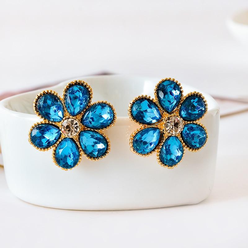 Ohrringe PräZise 2019 Neue Frauen Mode Marke Schmuck Tröpfchen Blau Kristall Ohrringe Großhandel Ohr Clip Ohrringe Hochzeit Blumen Jade Weiß Schmuck & Zubehör