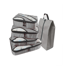 Travel Bag Large Waterproof Packing Cube Gray Women Luggage Cubes