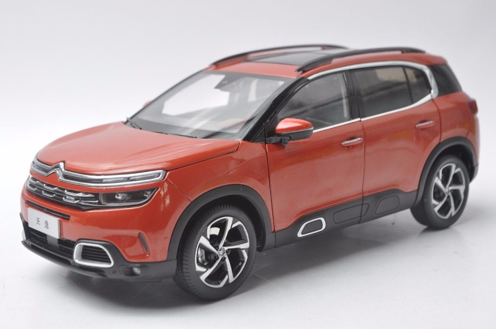 1 18 diecast model for citroen c5 aircross 2017 orange suv alloy toy car collection gifts in. Black Bedroom Furniture Sets. Home Design Ideas