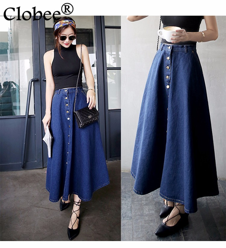 Online Get Cheap Long Denim Skirt -Aliexpress.com | Alibaba Group