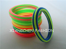 10pcs/lot 5.5cm Fabric Ponytail Holder Neon Color Elastic Rubber Hair Bands Hair Accessories For Women Braided Hair Piece