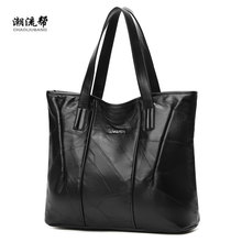 Sheepskin Stitching Handbag Handbag For Women Shopper Tote Luxury Designer sac a main High Quality Vintage Fashion Shoulder Bag(China)