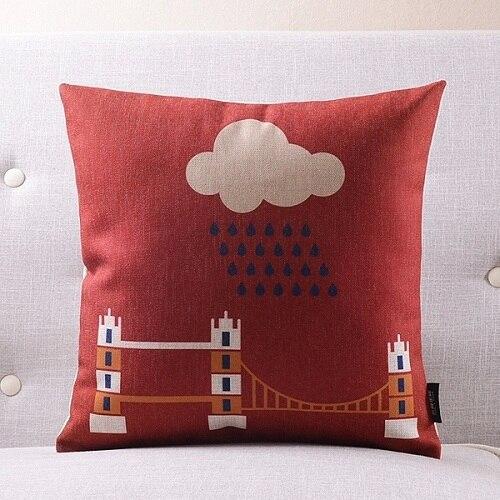 Лондон подземный Подушка Чехол постельное белье из хлопка с надписью «Keep Calm and носить на заказ накидки на подушки 45х45см наволочка для дома Спальня Диван украшения - Цвет: 9