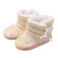 Winter Baby Schuhe Jungen Mädchen Schnee Stiefel Kleinkind Infant Booties Prewalker Bule Gelb Rosa Schuhe Warme Stiefel Chaussure Bebe(China)