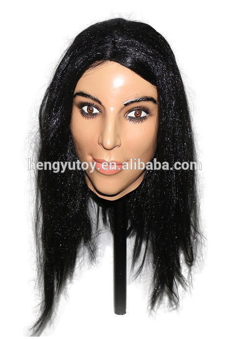 2016 Top Quality Trustworthy Party Dress Female Latex Crossdressing Mask image