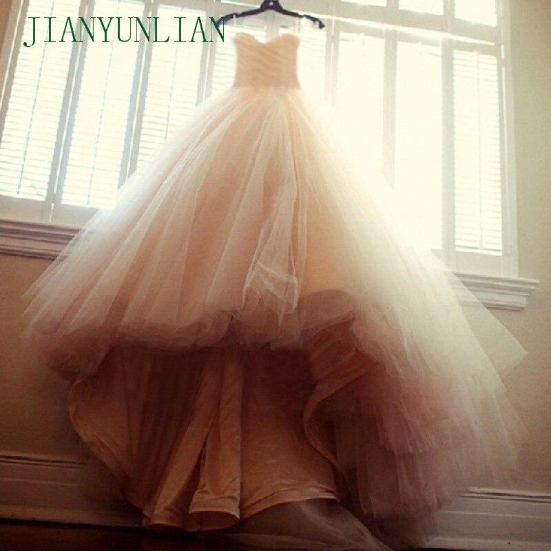 מחיר זול באיכות גבוהה יוקרה נפוחה מתוקה שמלות כלה סין Aliexpress כדור שמלת שמפניה שמלות כלה 2019