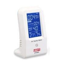 Air Quality Meter Uni t UT338C VOC Formaldehyde Detector PM2.5 Monitoring Tester Dust Haze Temperature Humidity Moisture Meter