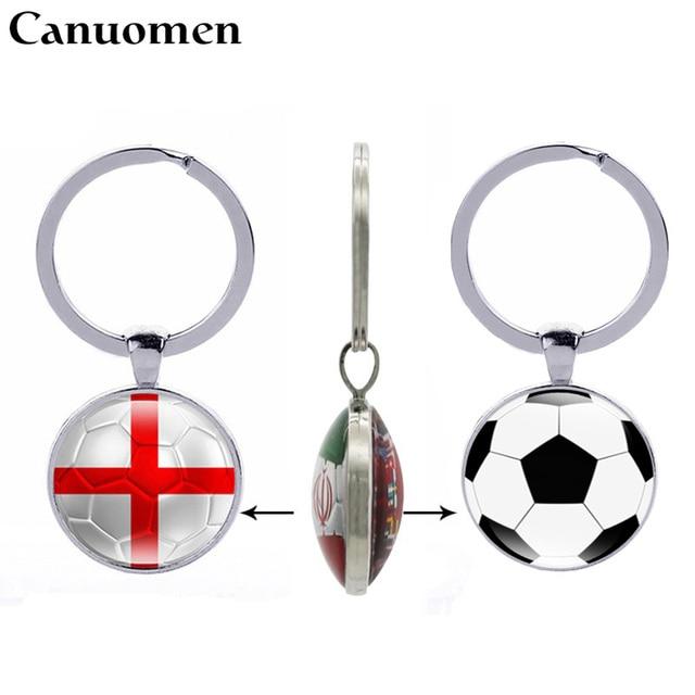 Football Keychain England Spain Denmark Costa Rica Flag Double side Keyring  Soccer Fans Souvenir Gift Men 531ff76a50