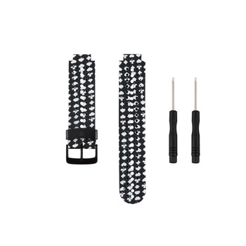 (230HS) Style-10 Soft Silicone Replacement Watch Band for Garmin Forerunner 230 /235/235Lite/ 220 / 620 / 630 / 735 Smart Watch