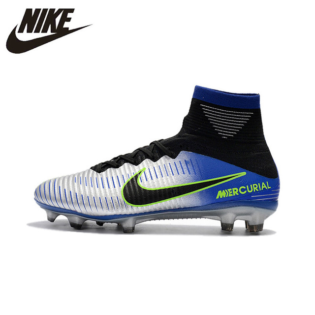 5a09fdc29ed4 Nike MERCURIAL SUPERFLY V AG Soccer Shoes Superfly High Ankle Football  Boots Outdoor for Men 831955-002 39-45