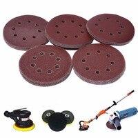 Durable 50pcs Sanding Disc 5 Inch 8 Holes Sandpaper Grinding Polishing Tools Mixed 40 60 80