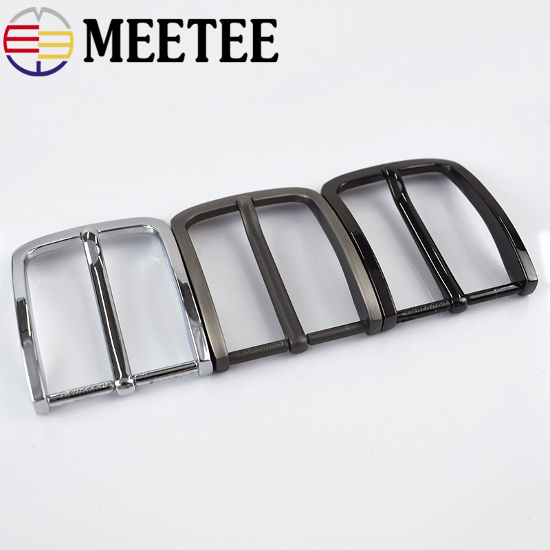 Meetee 40mm Men Alloy Metal Belt Buckle DIY Casual Business Belt Head Leather Craft Clothes Decoration Accessories BD378 in Buckles Hooks from Home Garden