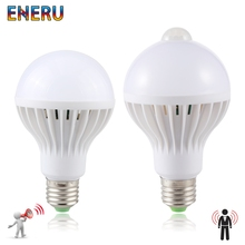 Led Bulb 3W 5W 7W 9W PIR Motion Sensor Lamp AC 220V 230V Auto Smart Infrared Body Sound Light E27
