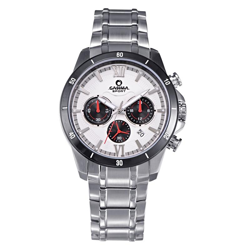 Luxury brand sport watches men fashion calculagraph men's quartz wrist watch waterproof 100m relogio masculino CASIMA#8301