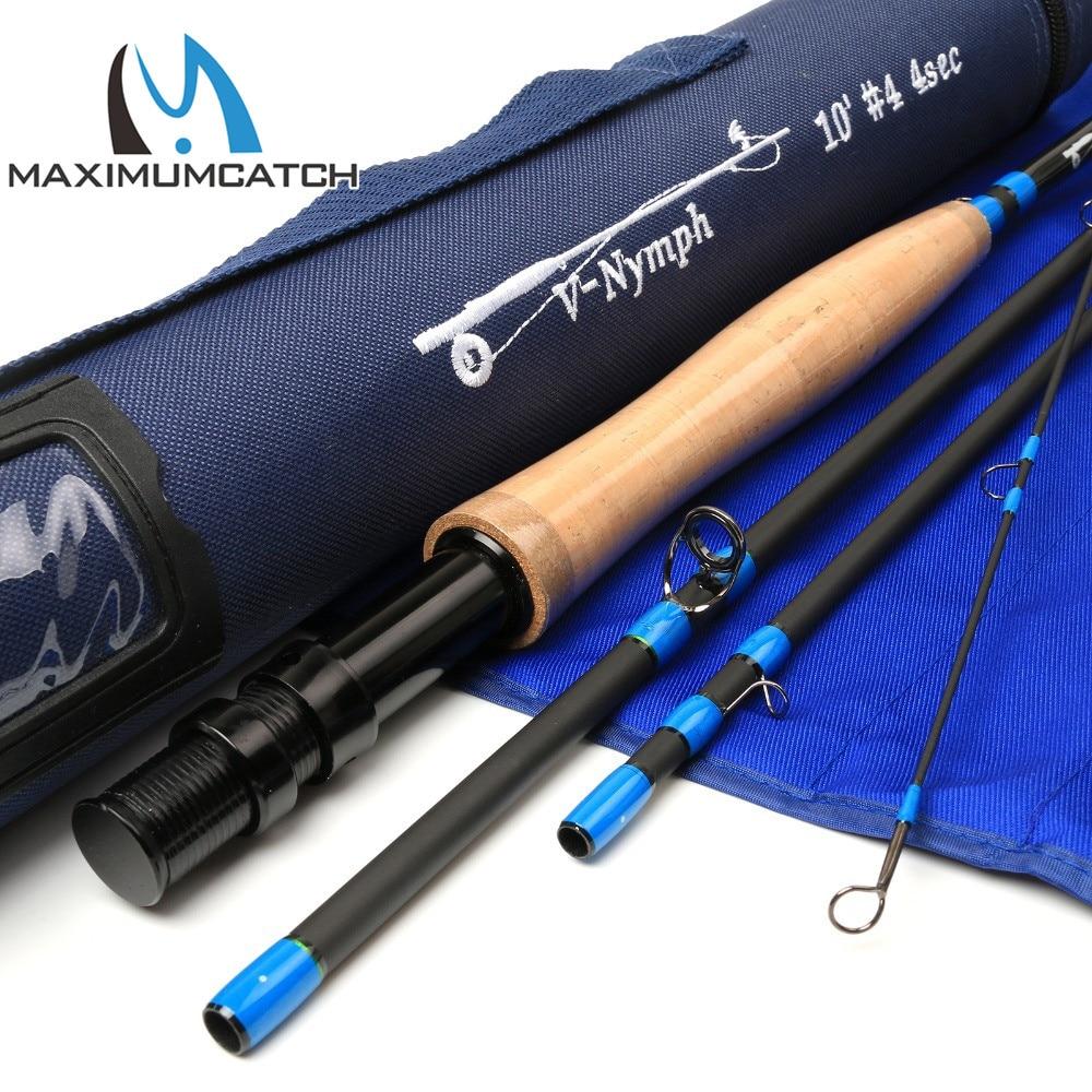 ФОТО Maximumcatch Fly Rod 10FT 3/4WT 4SEC Nymph Fly Rod  SK24 Carbon Fiber  Nymph Fly Fishing Rod
