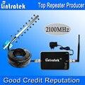 Lintratek 3G Impulsionadores Do Sinal Repetidor 2100 MHz 3G UMTS 2100 MHz Celular Repetidor de Sinal de celular 3G Yagi Antenna Kit Completo Venda Quente S20