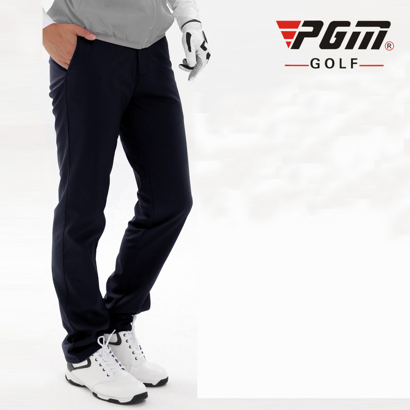 PGM Solid Golf Pants For Men Waterproof Thicken Man's Golf Pants Outdoor Sports Trousers Golf Wear Clothes Plus Size Trousers цена