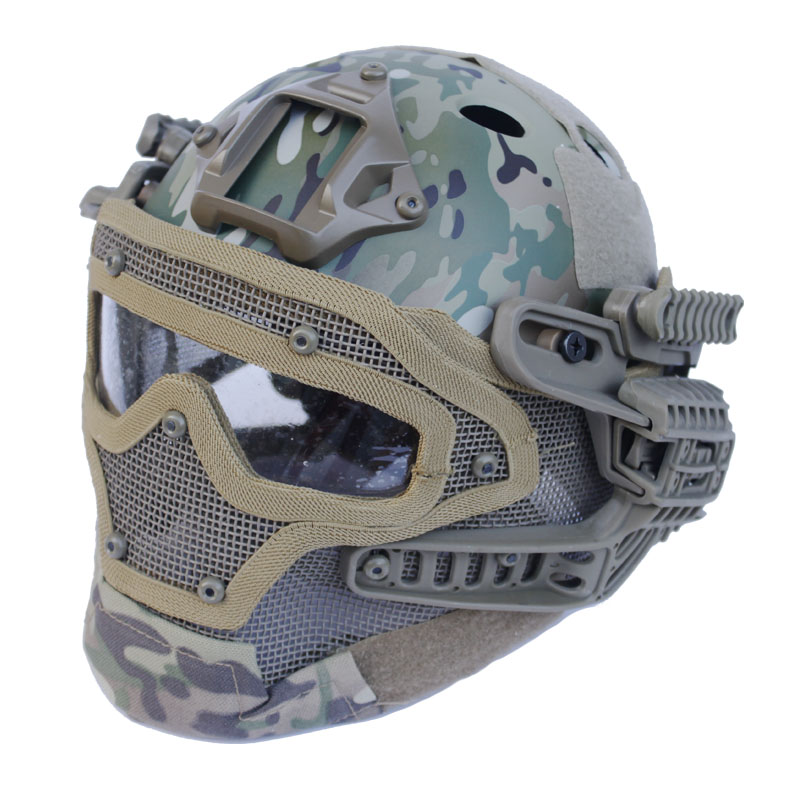 2016 New style Tactical Multi-function Helmet G4 System/Set PJ Helmet with Goggle for Military Airsoft hunting multicam цена и фото
