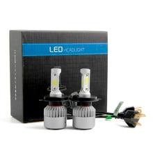 H4 110 Вт 16000LM светодио дный фар Conversion Kit светодио дный лампа для авто лампочки светодио дный огни автомобиля 12 В Универсальный 6000 К сигнальные лампы