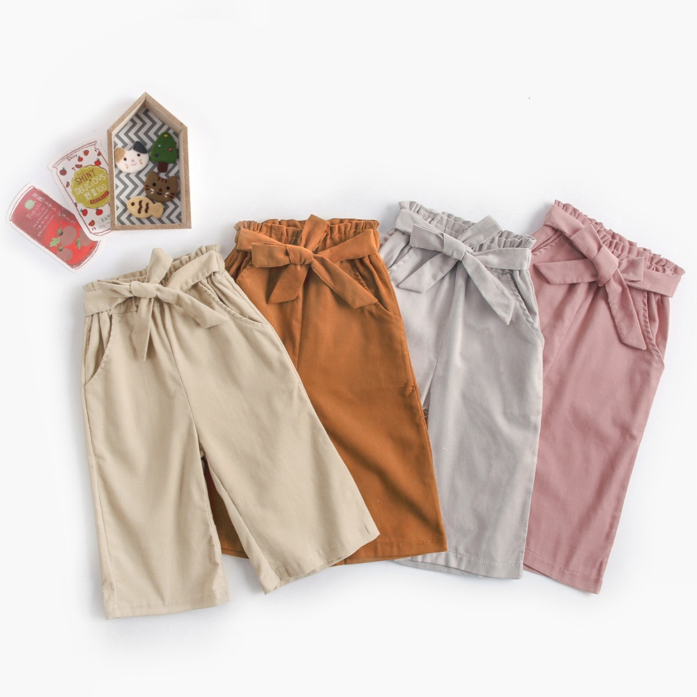 6m-6 years girl leggings fall autumn solid color cotton ankle length pants KPW8111