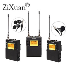 ZX-A656/UWP-D11 DV Interview Microphone Wireless Live Recording Interview Microphone Lavalier for Sony,Nikon DV Camera