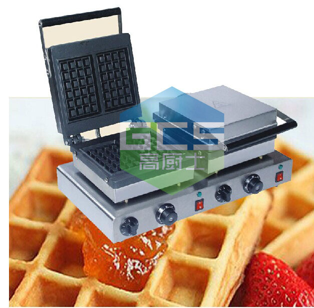 Free shipping Electric double head  waffle maker  square waffle machine 110v 220v free shipping electric 110v 220v 10 pcs waffle maker square waffle machine