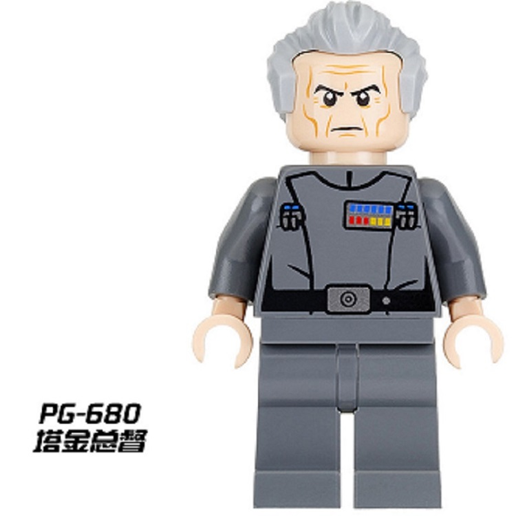 Single Sale Grand Moff Tarkin Star Wars Ahsoka Tano Assemble Building Blocks Toys For Children Gift PG680