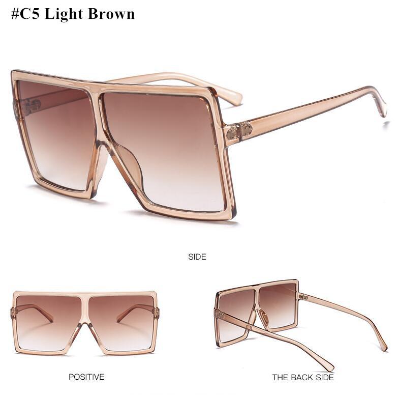 7162135fa53a HBK Sexy Oversized Pilot Sunglasses Women Shades Retro Brand Designer Sun  Glasses For Female Ladies Black Eyewear Oculos